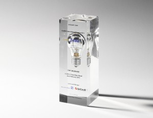 Glühbirne in Awardform