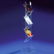Zeitschriften und Prospektständer aus Acrylglas