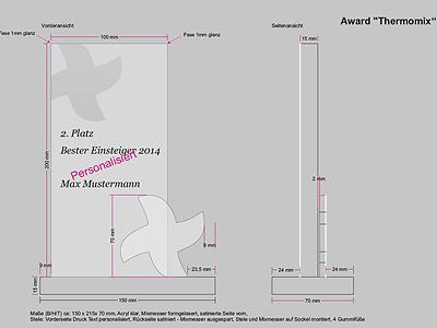 Skizze für Awardproduktionen