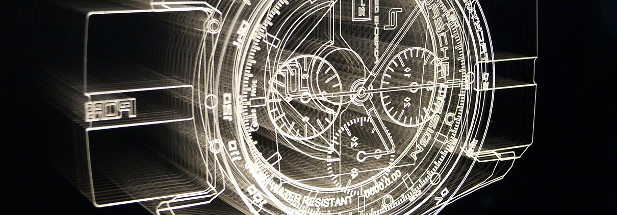 Uhr mit LED Technik