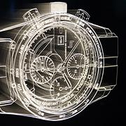 eine Uhr in LED Technik