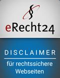 zeigt ein Siegel von eRecht24